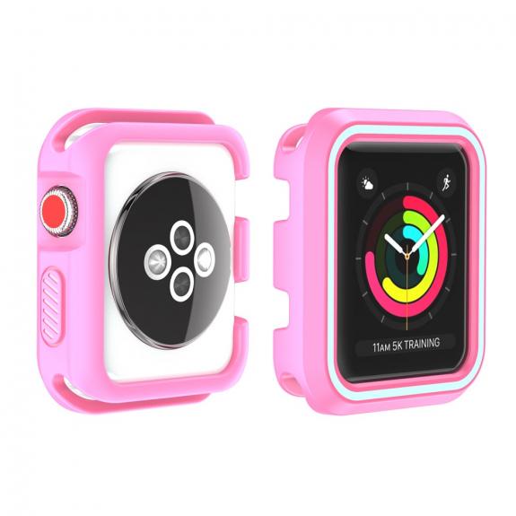 AppleKing gumový kryt pro Watch 38mm - růžový - možnost vrátit zboží ZDARMA do 30ti dní