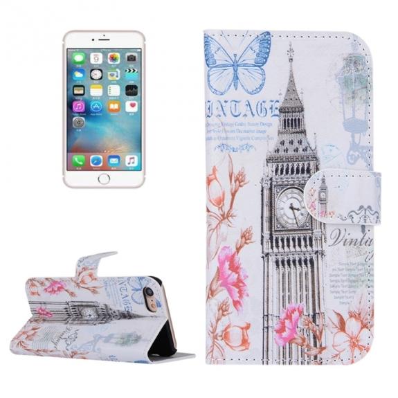 AppleKing otvírací / flip peněženkové pouzdro se stojánkem a sloty na karty pro Apple iPhone 7 - Big Ben - možnost vrátit zboží ZDARMA do 30ti dní