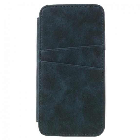 AppleKing flipové vintage pouzdro pro iPhone XS / iPhone X - modrozelené - možnost vrátit zboží ZDARMA do 30ti dní