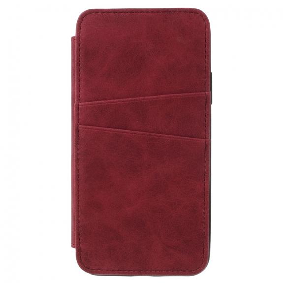 AppleKing flipové vintage pouzdro pro iPhone XS / iPhone X - červené - možnost vrátit zboží ZDARMA do 30ti dní