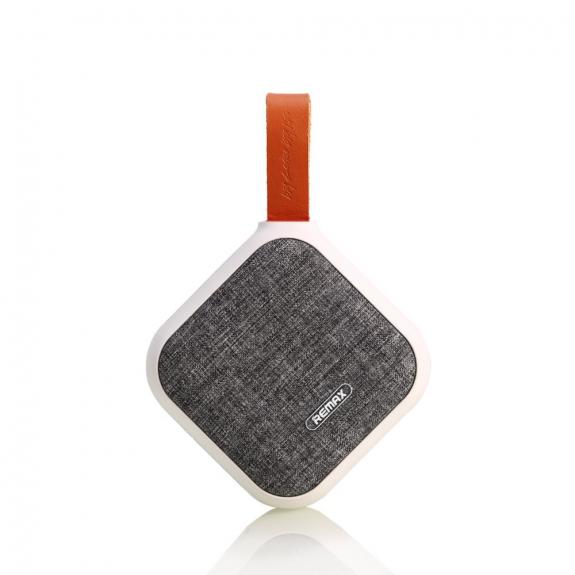 AppleKing rEMAX Bluetooth reproduktor s textilním potahem a poutkem - bílý - možnost vrátit zboží ZDARMA do 30ti dní