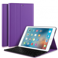 """Bezdrátová klávesnice a kryt pro iPad 9,7"""" (2017 / 2018) / iPad Air - fialová"""