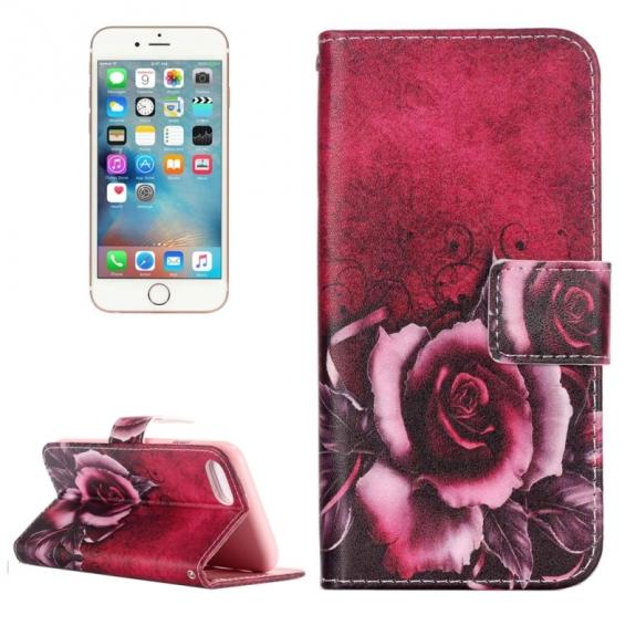 AppleKing otvírací / flip peněženkové pouzdro se stojánkem a sloty na karty pro Apple iPhone 7 - Růže - možnost vrátit zboží ZDARMA do 30ti dní
