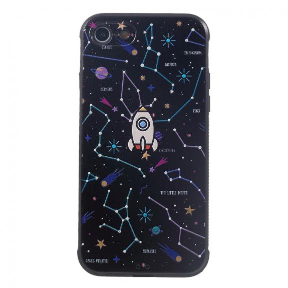 AppleKing tenký kryt pro iPhone 7 / 8 - vesmírná loď - možnost vrátit zboží ZDARMA do 30ti dní