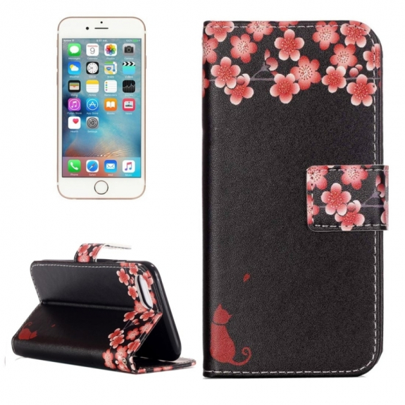 AppleKing otvírací / flip peněženkové pouzdro se stojánkem a sloty na karty pro Apple iPhone 7 - Kvetoucí švestka - možnost vrátit zboží ZDARMA do 30ti dní