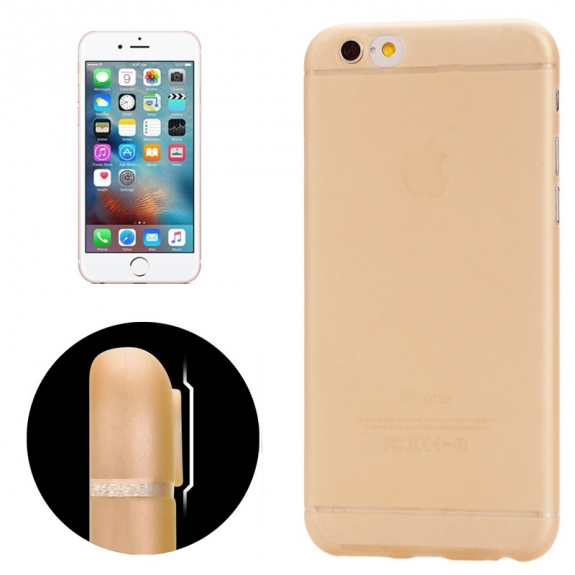 AppleKing ultra tenký plastový kryt pro iPhone 6 / 6S - s ochranou zadní kamery - oranžový - možnost vrátit zboží ZDARMA do 30ti dní