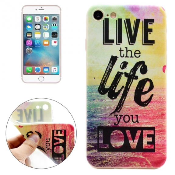 Ochranný kryt pro Apple iPhone 8 / 7 - Palma s citátem