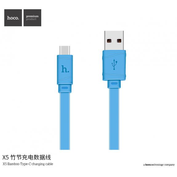 HOCO X5 USB-C kabel - modrý - možnost vrátit zboží ZDARMA do 30ti dní
