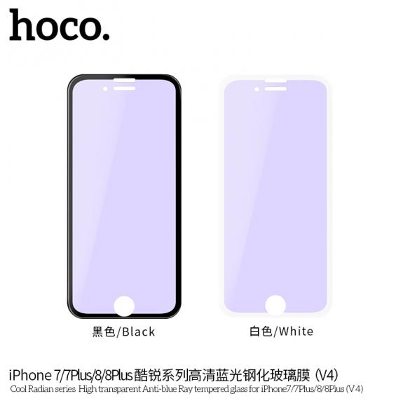HOCO Radian 3D sklo s Anti-Blue Ray pro iPhone 7 Plus / 8 Plus - bílé - možnost vrátit zboží ZDARMA do 30ti dní