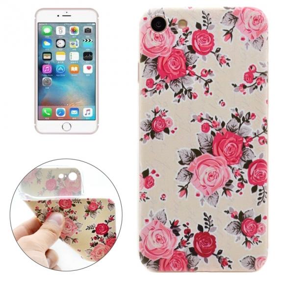 Ochranný kryt pro Apple iPhone 8 / 7 - Bílý s růžemi