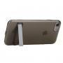 Ultratenký průhledný zadní kryt s držákem pro Apple iPhone 8 / 7 - černý
