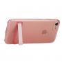 Ultratenký průhledný zadní kryt s držákem pro Apple iPhone 8 / 7 - růžový