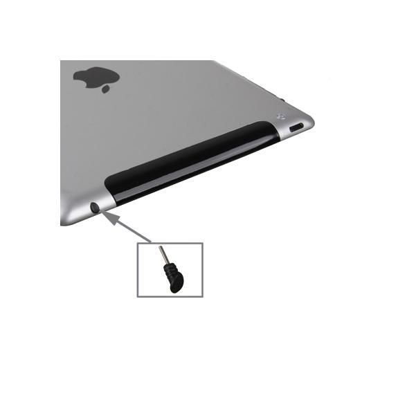 Záslepka proti prachu jack konektoru pro Apple iPad 2. / 3. / 4.gen. - černá