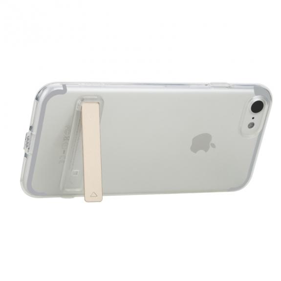 Ultratenký průhledný zadní kryt s držákem pro Apple iPhone 8 / 7 - průhledný
