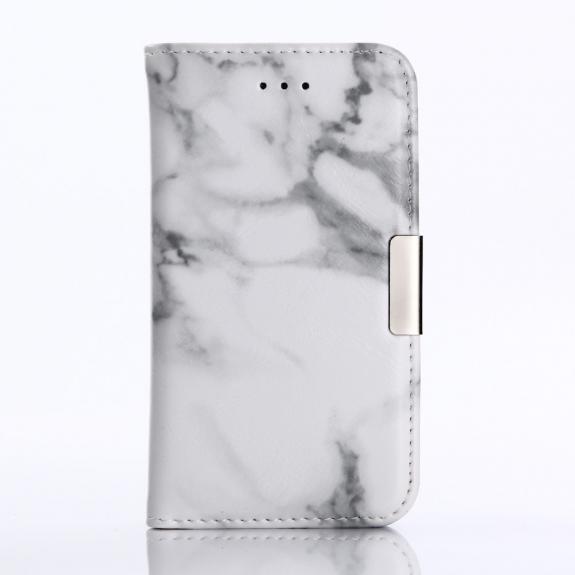 AppleKing flipové pouzdro pro iPhone 5 / 5S / SE - bílý mramor - možnost vrátit zboží ZDARMA do 30ti dní