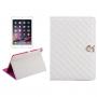 Pouzdro / kryt s integrovaným stojánkem pro iPad Air 2 - vzor kosočtverce - bílé