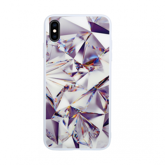 AppleKing diamantový kryt pro iPhone XS Max - bílý - možnost vrátit zboží ZDARMA do 30ti dní