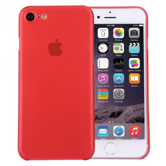 AppleKing super lehký tenký kryt na Apple iPhone 7 - červený - možnost vrátit zboží ZDARMA do 30ti dní