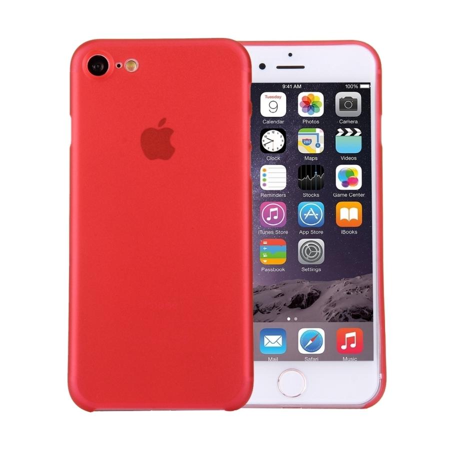 14481ca7c3 Super lehký tenký kryt na Apple iPhone 8   7 - červený - AppleKing.cz