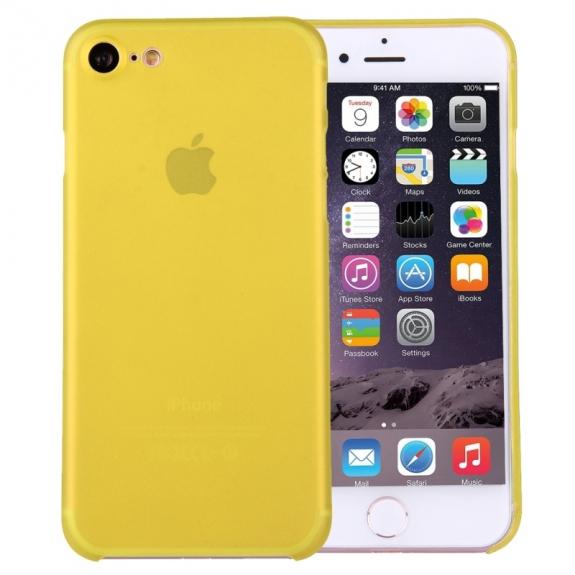AppleKing super lehký tenký kryt na Apple iPhone 7 - žlutý - možnost vrátit zboží ZDARMA do 30ti dní
