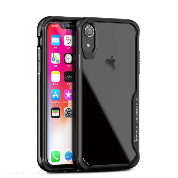 IPAKY hybridní kryt pro iPhone XR - černá - možnost vrátit zboží ZDARMA do 30ti dní