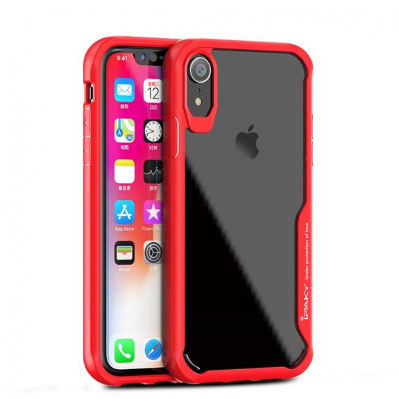 IPAKY hybridní kryt pro iPhone XR - červená - možnost vrátit zboží ZDARMA do 30ti dní