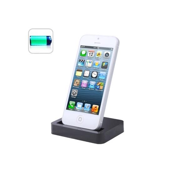 AppleKing dokovací stanice pro iPhone 5 / 5S / SE – černá - TOP kvalita - možnost vrátit zboží ZDARMA do 30ti dní