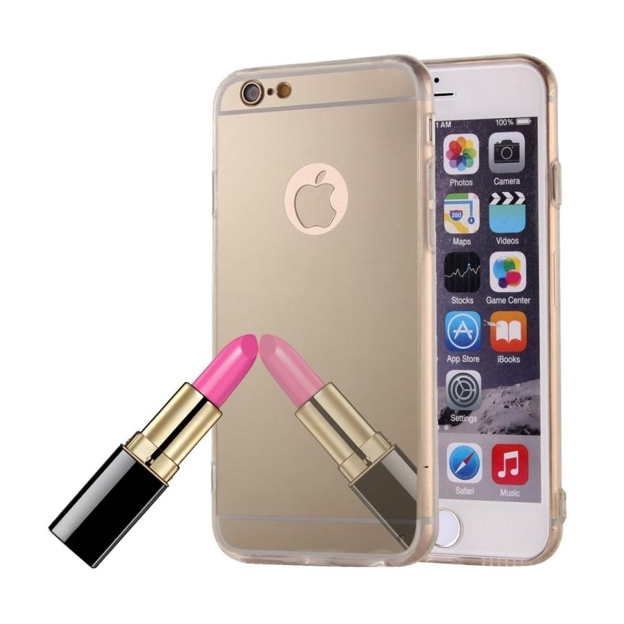 f6456f2e8 Zrcadlový ochranný kryt pro iPhone 6 / 6S - zlatý - AppleKing.cz
