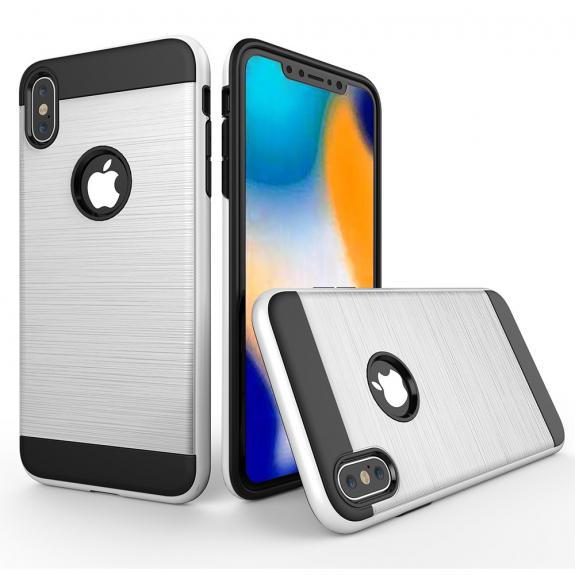 AppleKing odolný kryt na iPhone XS Max - broušená textura - bílá - možnost vrátit zboží ZDARMA do 30ti dní