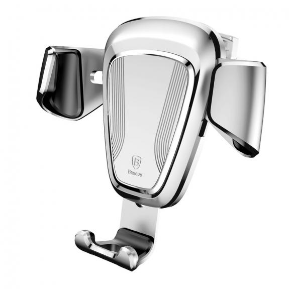 AppleKing bASEUS gravitační držák do auta pro iPhone - stříbrný - možnost vrátit zboží ZDARMA do 30ti dní
