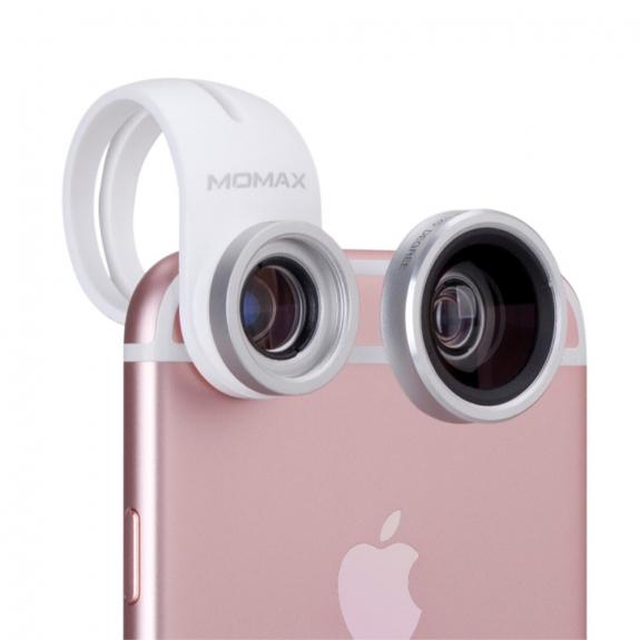 AppleKing mOMAX sada 4v1 - 120° širokoúhlý / makro / fisheye objektivy a CPL filtr - možnost vrátit zboží ZDARMA do 30ti dní