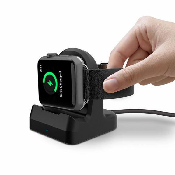 AppleKing nabíjecí a dokovací stojánek pro Apple Watch - černý - možnost vrátit zboží ZDARMA do 30ti dní