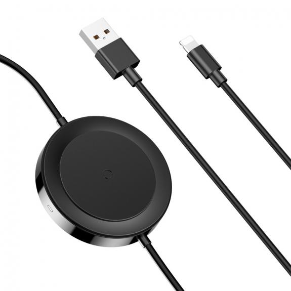 BASEUS lightning kabel s nabíjecí podložkou - černá - možnost vrátit zboží ZDARMA do 30ti dní