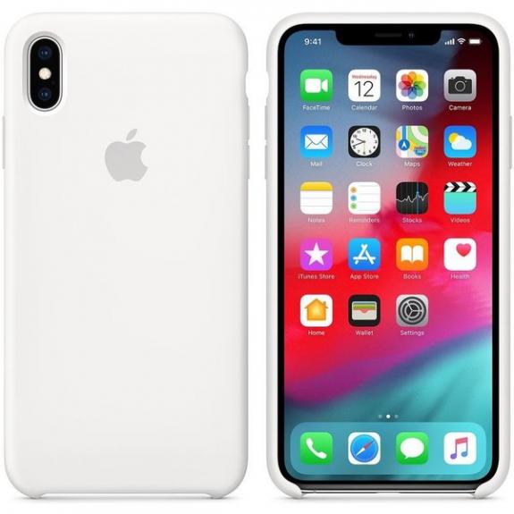 Originální Apple silikonový kryt pro iPhone XS Max - bilý MRWF2ZM/A - možnost vrátit zboží ZDARMA do 30ti dní