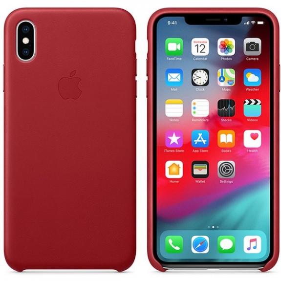 Originální Apple kožené pouzdro pro iPhone XS Max - červená MRWQ2ZM/A - možnost vrátit zboží ZDARMA do 30ti dní