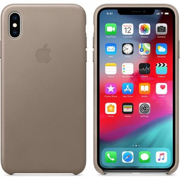 Originální Apple kožené pouzdro pro iPhone XS Max - kouřová MRWR2ZM/A - možnost vrátit zboží ZDARMA do 30ti dní