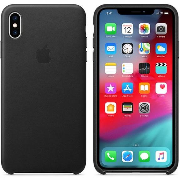 Originální Apple kožené pouzdro pro iPhone XS Max - černá MRWT2ZM/A - možnost vrátit zboží ZDARMA do 30ti dní