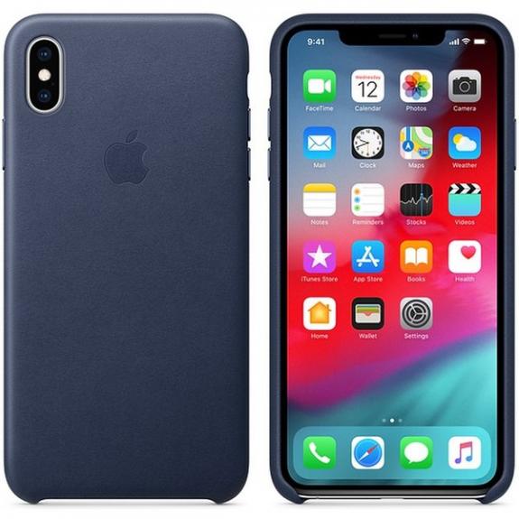Originální Apple kožené pouzdro pro iPhone XS Max - půlnočně modrá MRWU2ZM/A - možnost vrátit zboží ZDARMA do 30ti dní