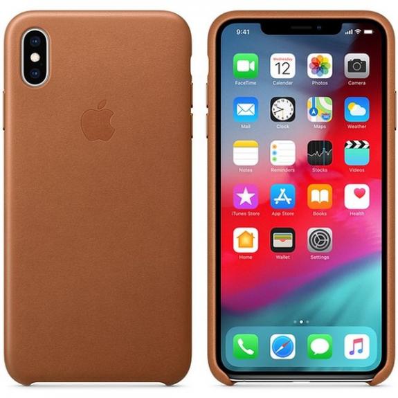 Originální Apple kožené pouzdro pro iPhone XS Max - sedlově hnědá MRWV2ZM/A - možnost vrátit zboží ZDARMA do 30ti dní