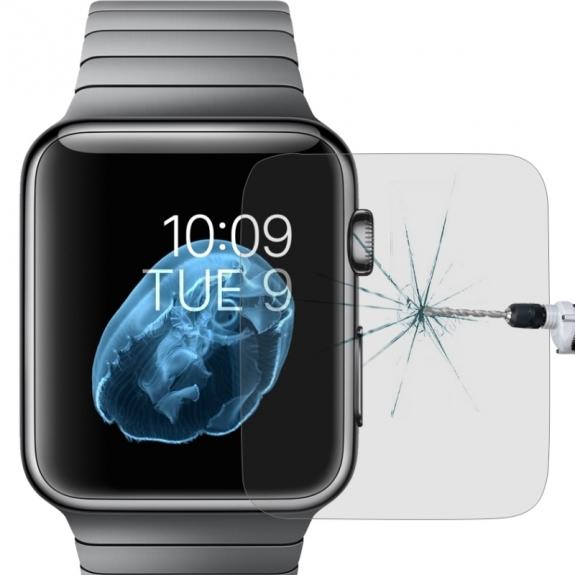 AppleKing super odolné temperované sklo 9H+ pro Apple Watch 38mm - možnost vrátit zboží ZDARMA do 30ti dní