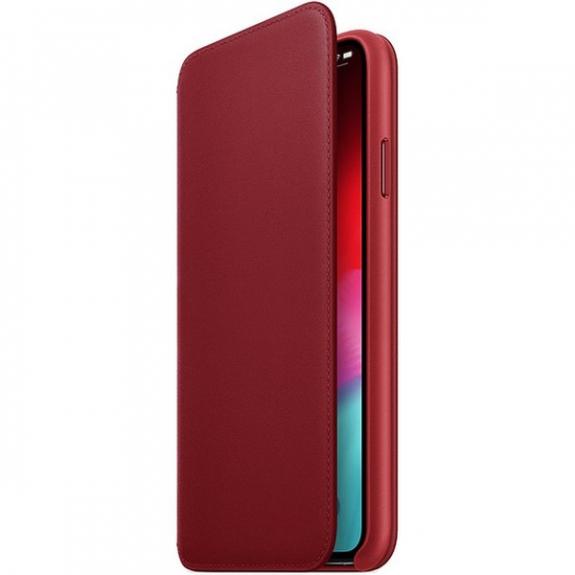 Originální Apple Folio kožené pouzdro pro iPhone XS Max - červená MRX32ZM/A - možnost vrátit zboží ZDARMA do 30ti dní