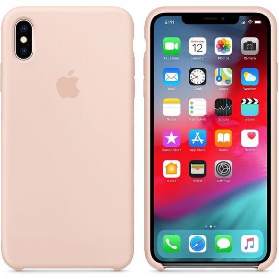 Originální Apple silikonový kryt pro iPhone XS Max - pískově růžová MTFD2ZM/A - možnost vrátit zboží ZDARMA do 30ti dní