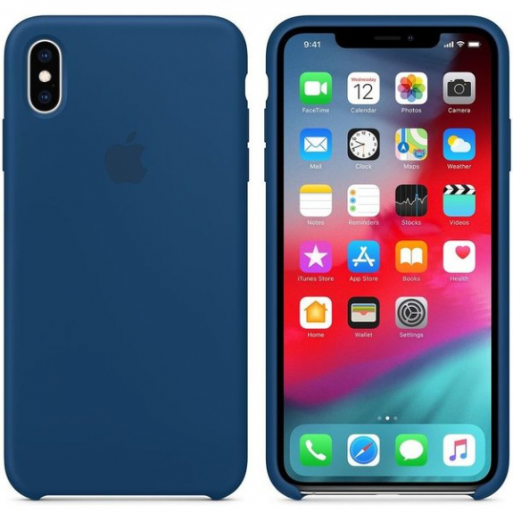 Originální Apple silikonový kryt pro iPhone XS Max - podvečerně modrý MTFE2ZM/A - možnost vrátit zboží ZDARMA do 30ti dní