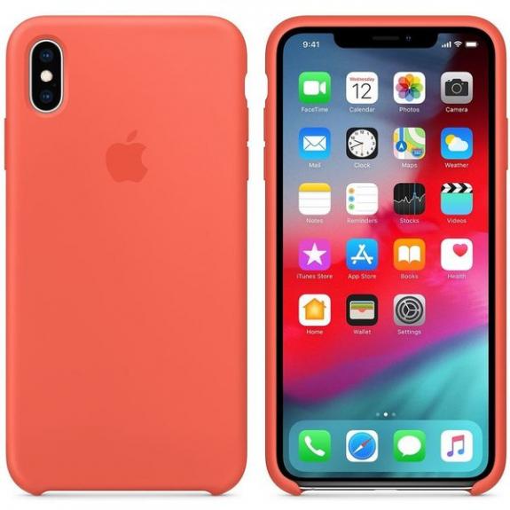 Originální Apple silikonový kryt pro iPhone XS Max - nektarinkový MTFF2ZM/A - možnost vrátit zboží ZDARMA do 30ti dní