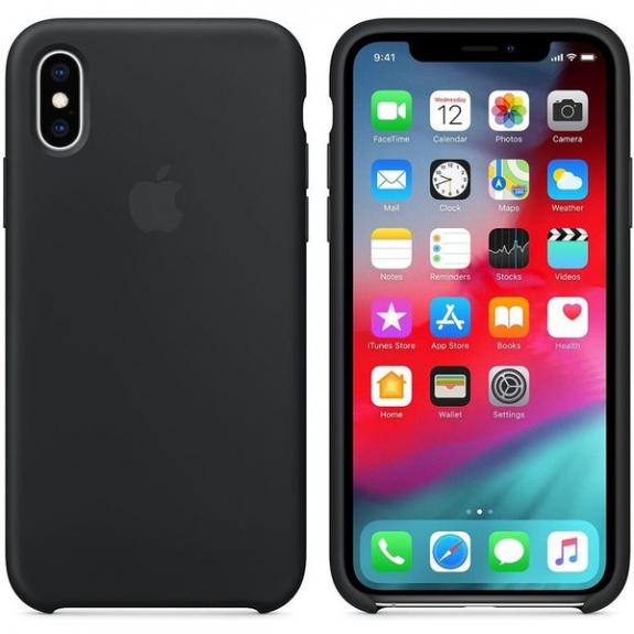 Originální Apple silikonový pro kryt iPhone XS - černý MRW72ZM/A - možnost vrátit zboží ZDARMA do 30ti dní