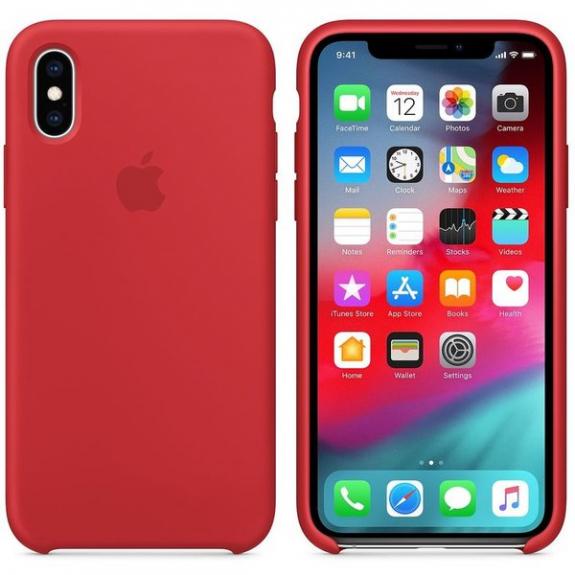 Originální Apple silikonový kryt pro iPhone XS- červený MRWC2ZM/A - možnost vrátit zboží ZDARMA do 30ti dní