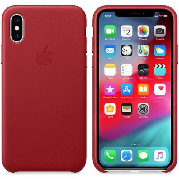 Originální Apple kožené pouzdro pro iPhone XS - červená MRWK2ZM/A - možnost vrátit zboží ZDARMA do 30ti dní