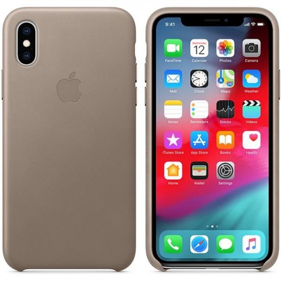 Originální Apple kožené pouzdro pro iPhone XS - kouřová MRWL2ZM/A - možnost vrátit zboží ZDARMA do 30ti dní
