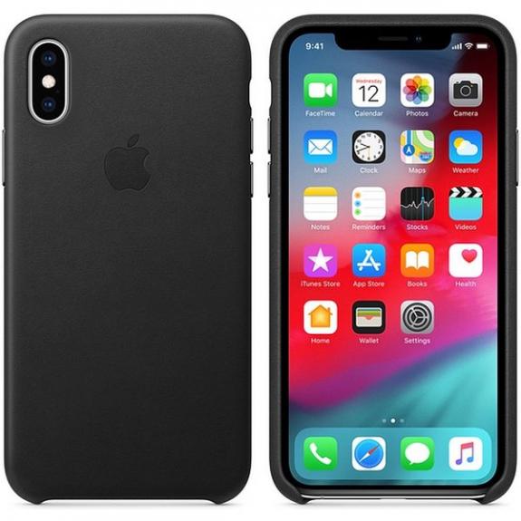 Originální Apple kožené pouzdro pro iPhone XS - černá MRWM2ZM/A - možnost vrátit zboží ZDARMA do 30ti dní