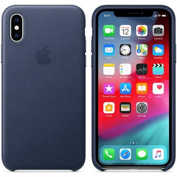 Originální Apple kožené pouzdro pro iPhone XS - půlnočně modrá MRWN2ZM/A - možnost vrátit zboží ZDARMA do 30ti dní